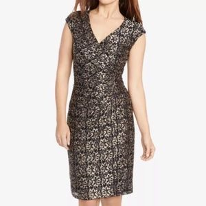 American Living Metallic Floral Lace Sheath Dress